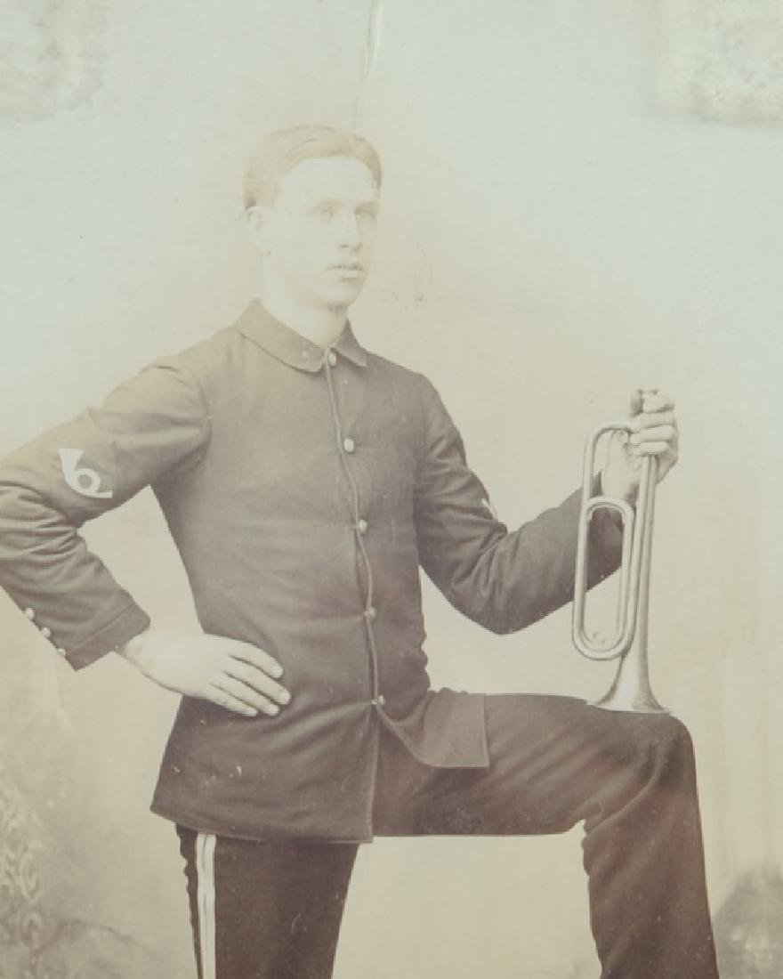 19th C. Cabinet Card Man with Bugle - 2