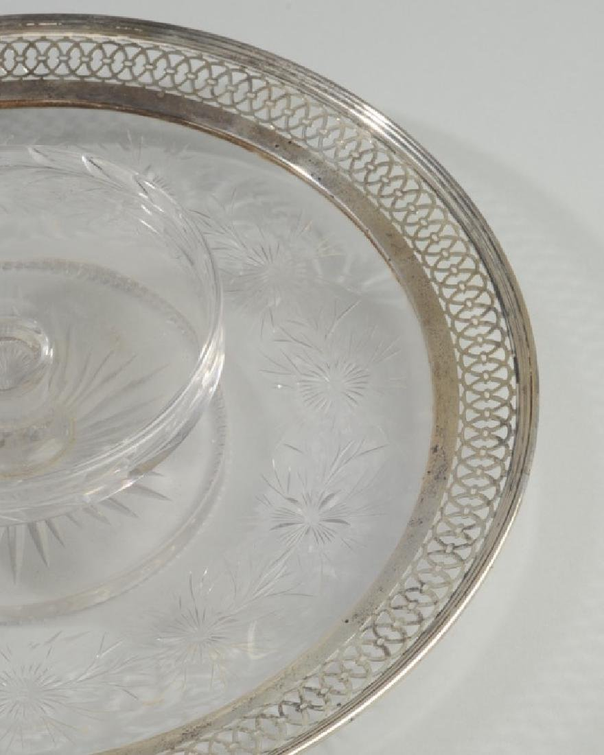 Cut Glass & Sterling Serving Dish - 3
