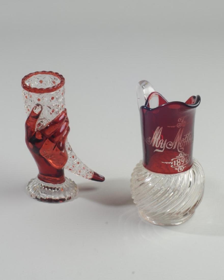 Ruby Flash Hand Vase & Pitcher