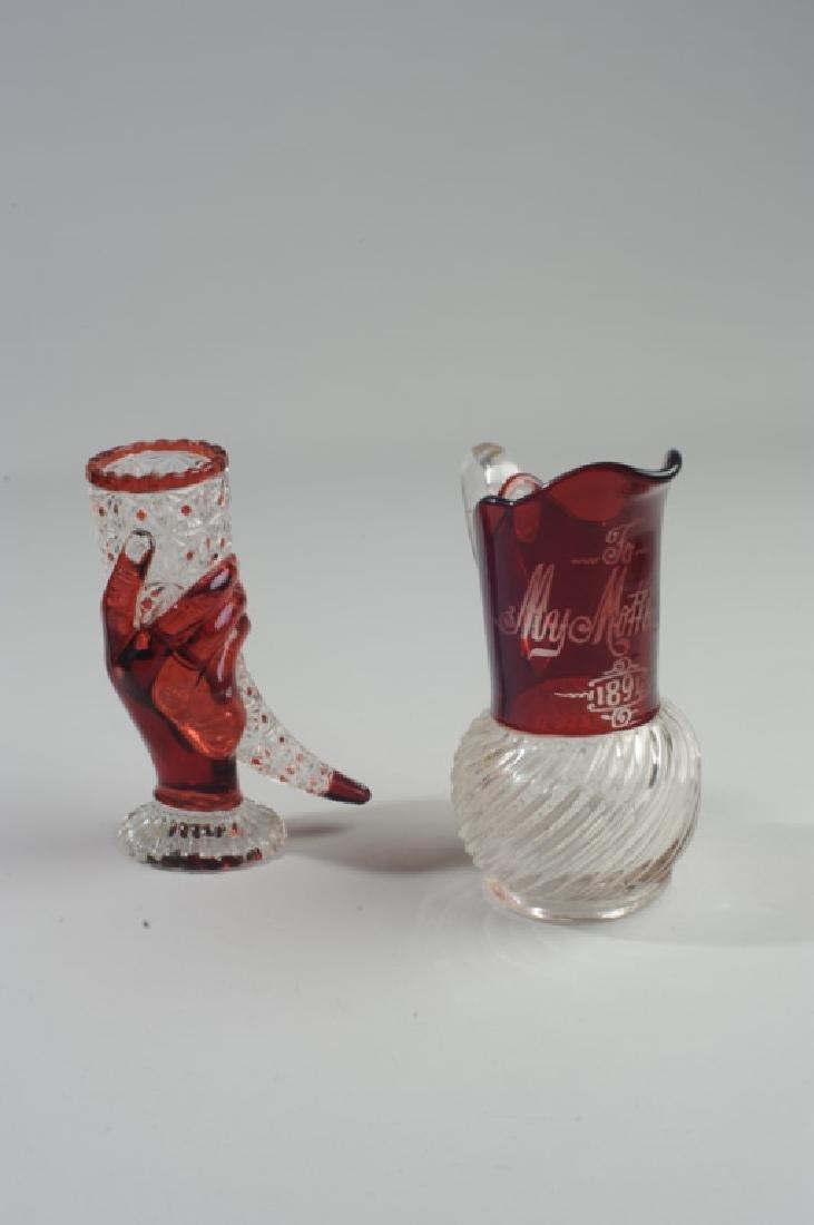Ruby Flash Hand Vase & Pitcher - 3