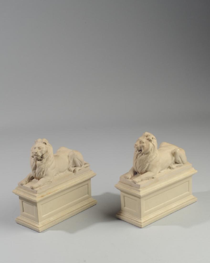Pair Alva Studios Composition Lion Bookends