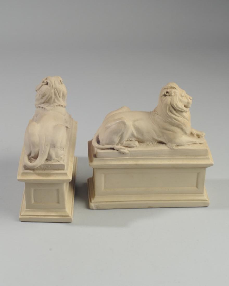 Pair Alva Studios Composition Lion Bookends - 3