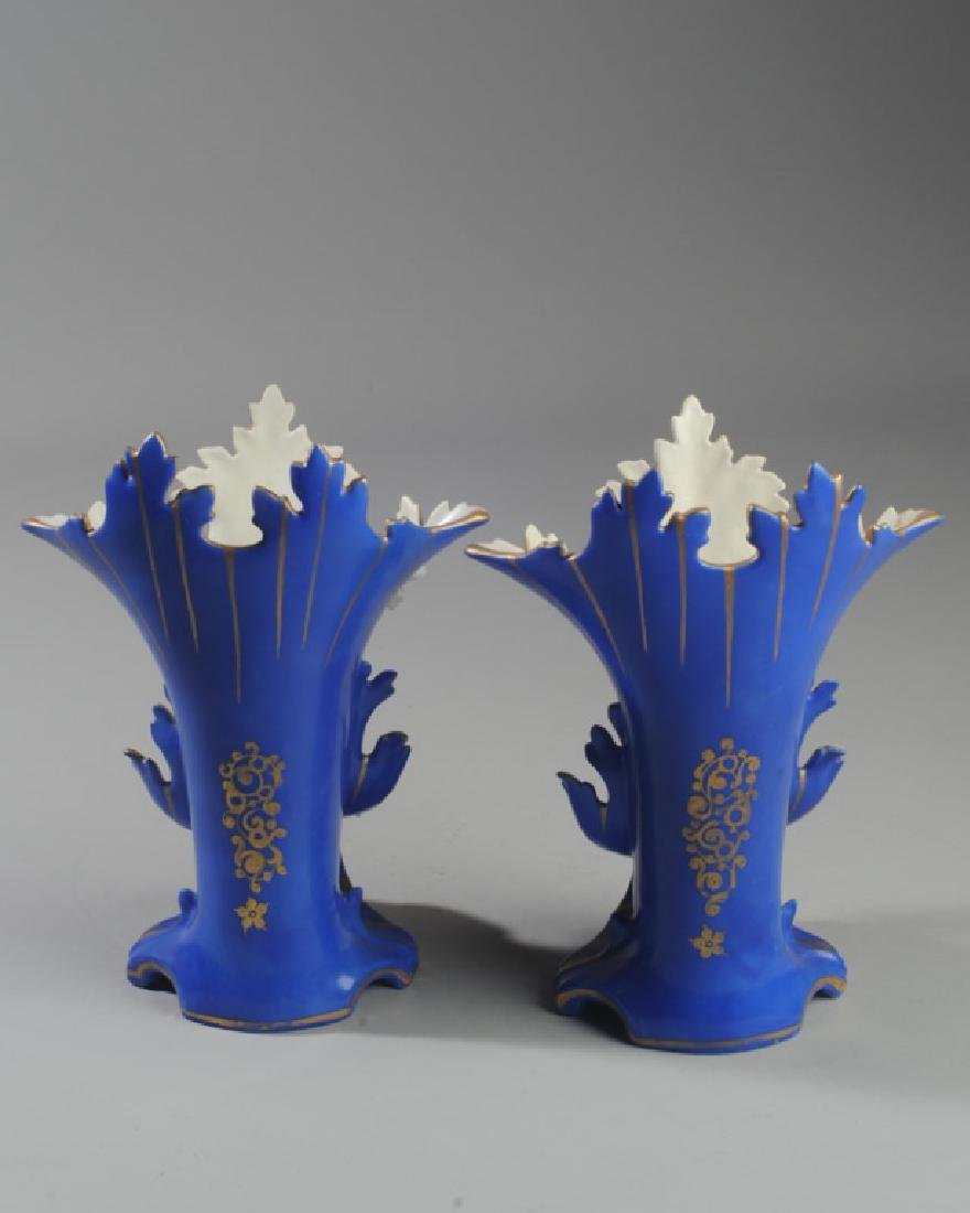 Pair 19th C. Old Paris Spill Vases - 3