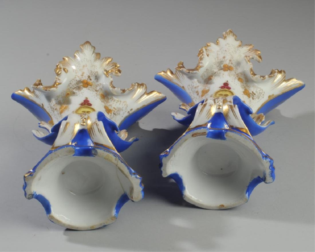 Pair 19th C. Old Paris Spill Vases - 4