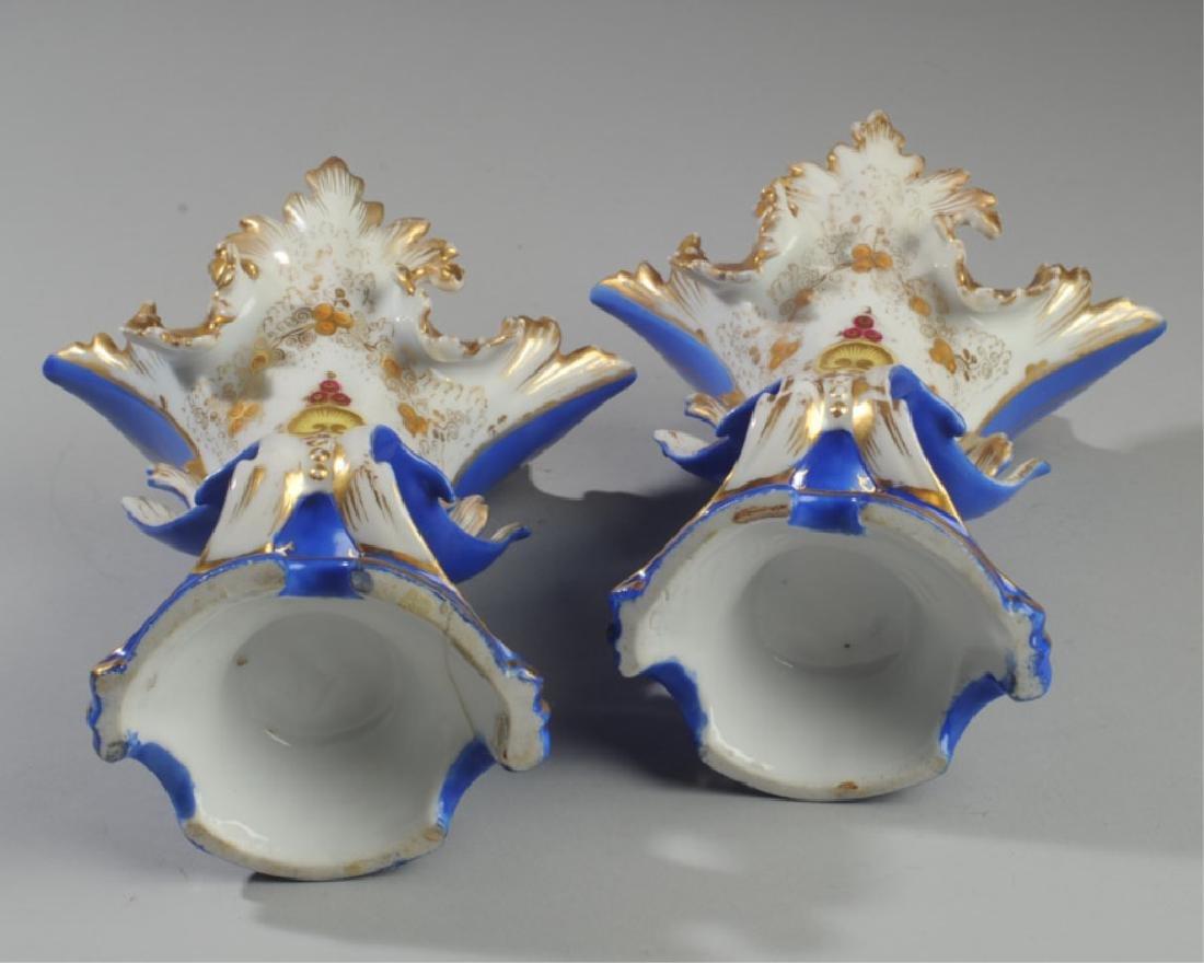 Pair 19th C. Old Paris Spill Vases - 4