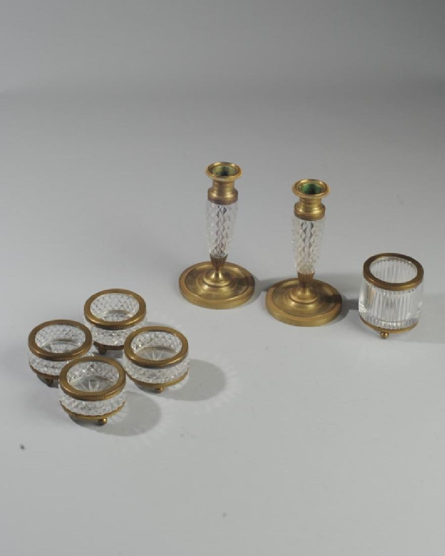 French Vintage Crystal & Ormolu Grouping