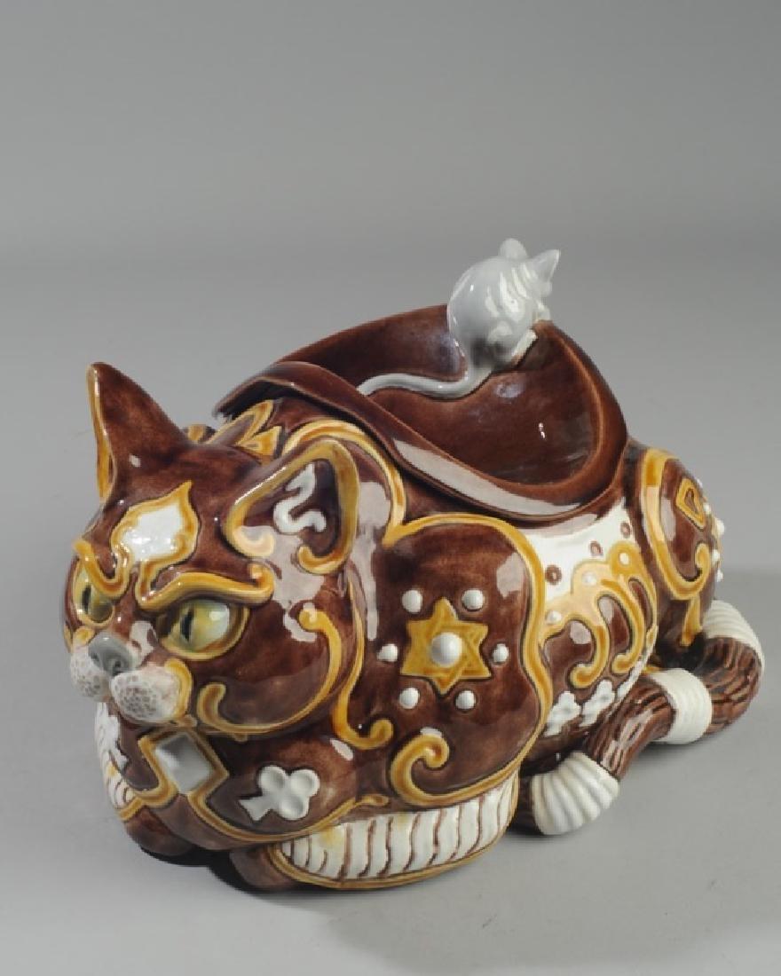 Bordallo Pinheiro Byzantine Ceramic Cat