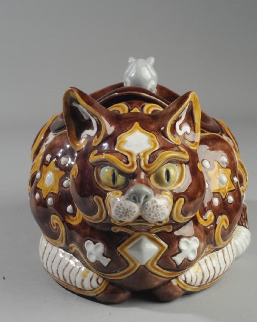 Bordallo Pinheiro Byzantine Ceramic Cat - 2