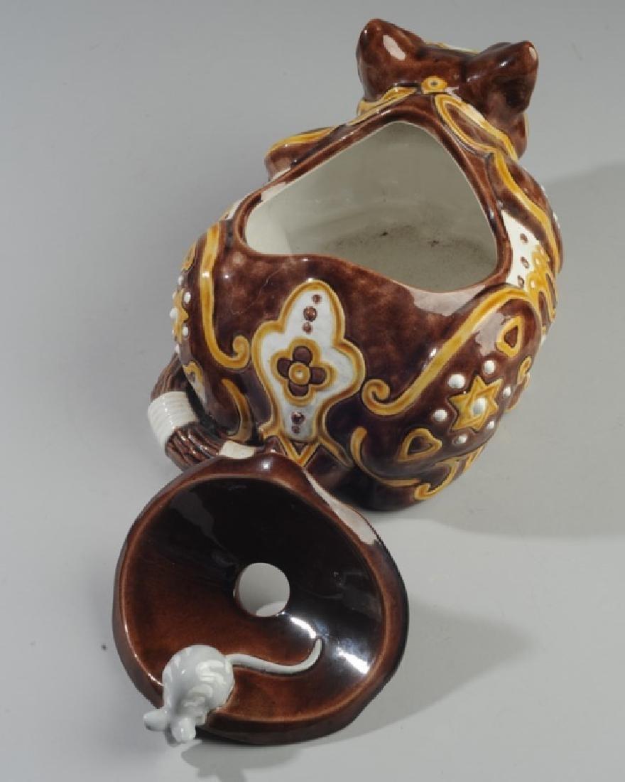 Bordallo Pinheiro Byzantine Ceramic Cat - 4