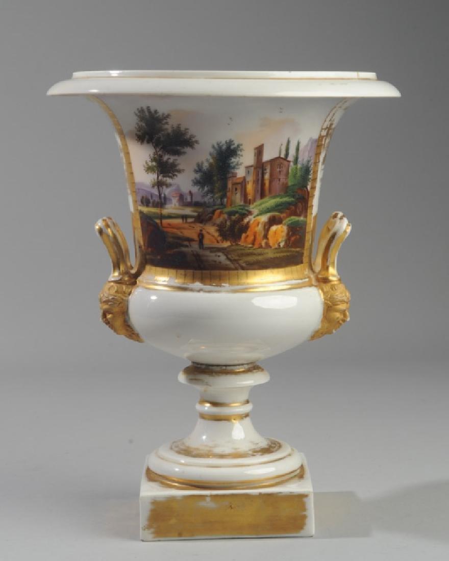 Old Paris Scenic Porcelain Urn