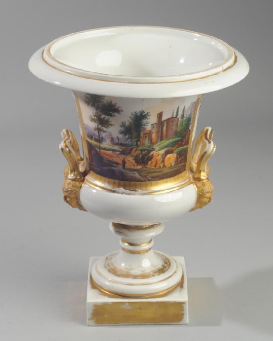 Old Paris Scenic Porcelain Urn - 2