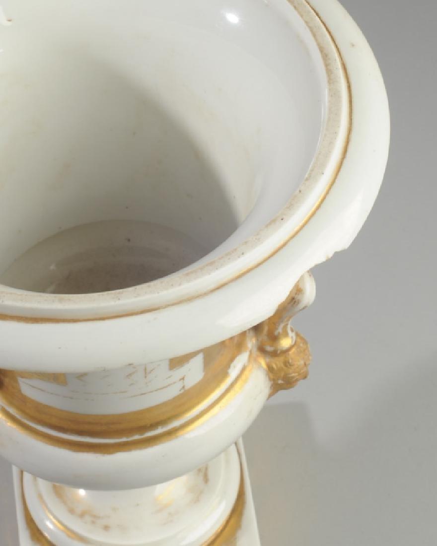 Old Paris Scenic Porcelain Urn - 5
