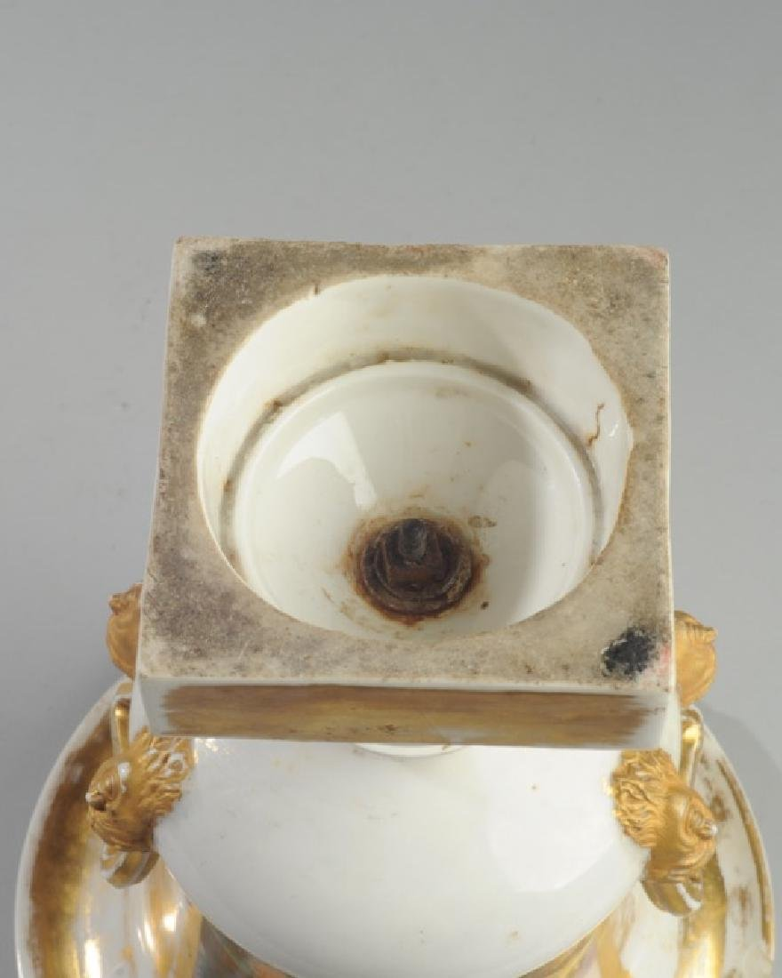 Old Paris Scenic Porcelain Urn - 6
