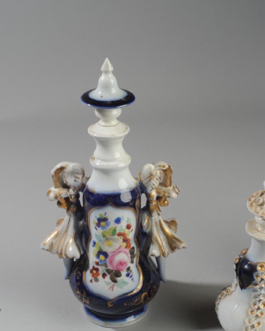 Lot of Antique French Opaline White Glass - 4