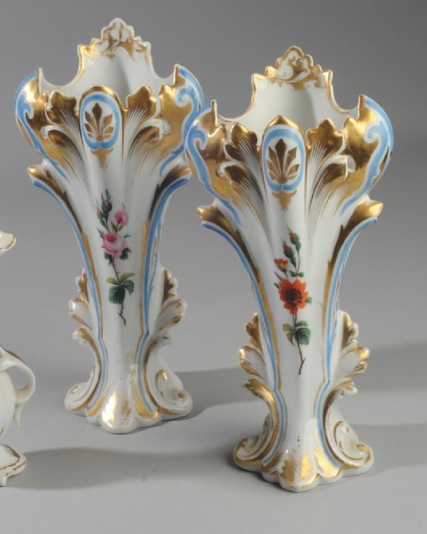 Three Old Paris Vases - 2