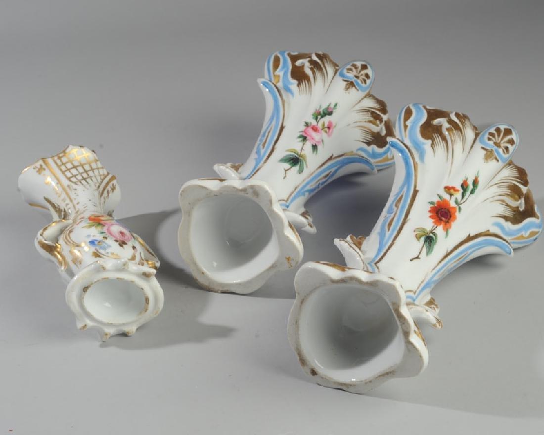 Three Old Paris Vases - 5