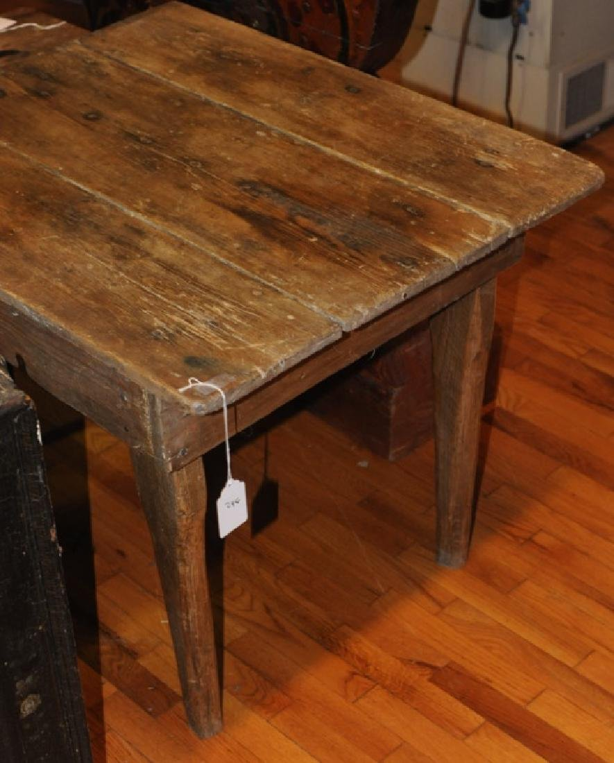 Primitive Hand Made Pine Farm Table
