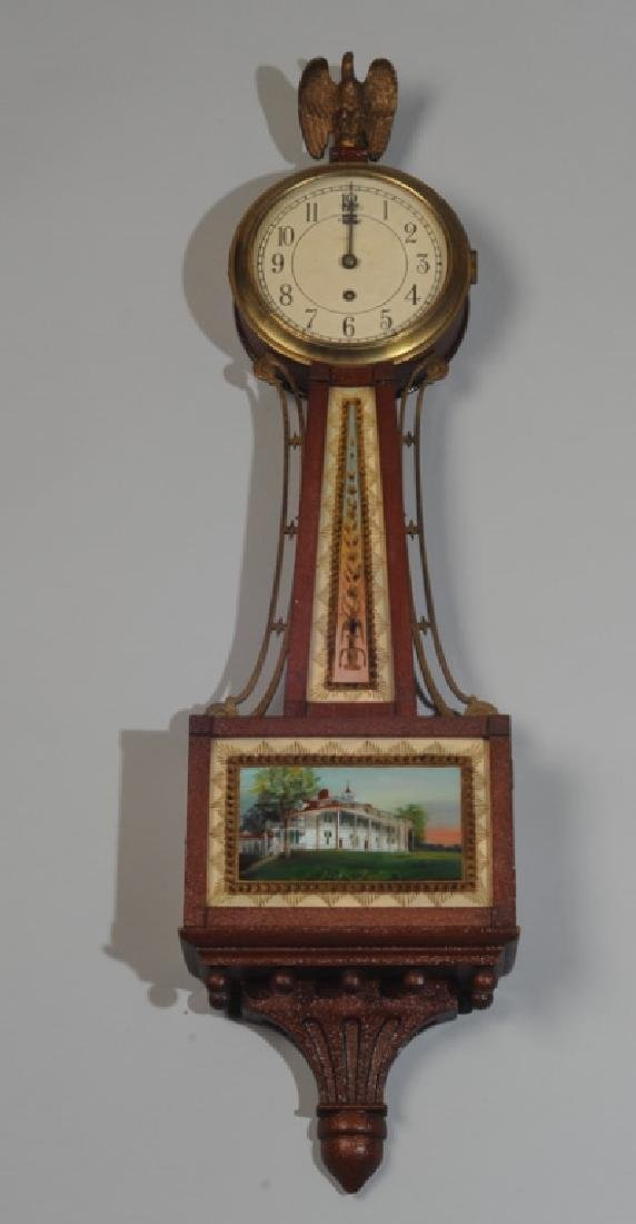 Chelsea Reverse Painted Banjo Clock