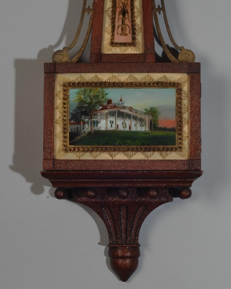 Chelsea Reverse Painted Banjo Clock - 2