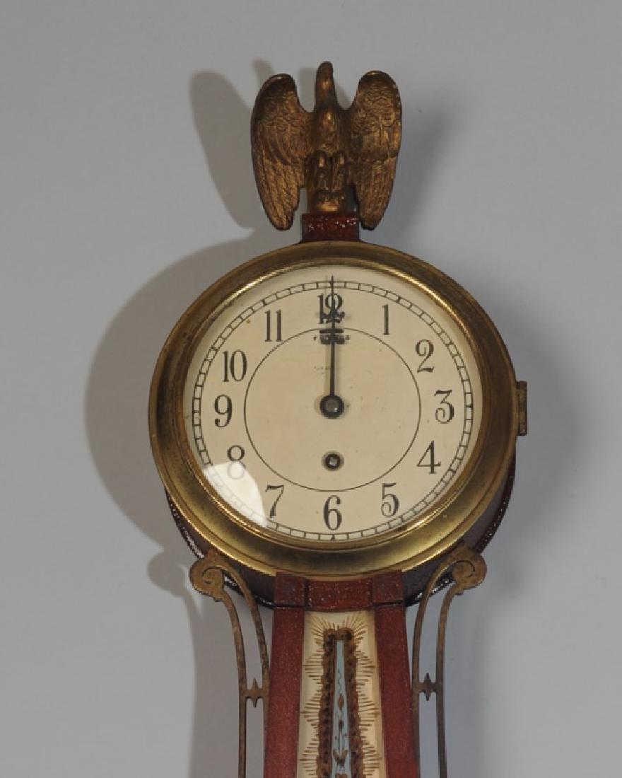 Chelsea Reverse Painted Banjo Clock - 3