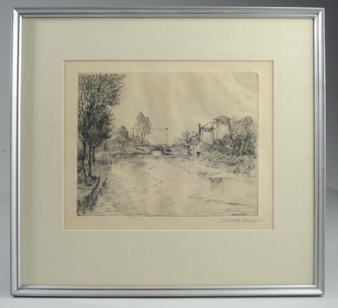 Edward Moran (1829 - 1901) Etching