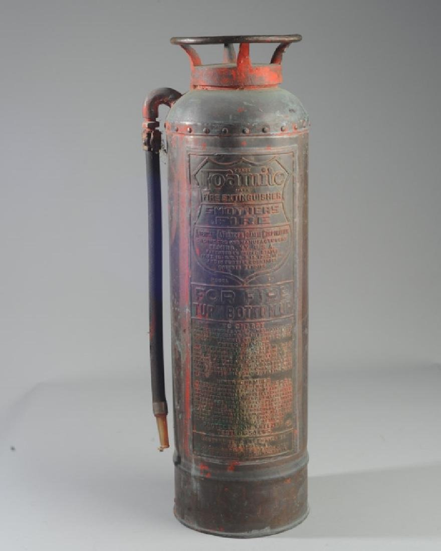 Vintage Foamite Brass or Copper Fire Extinguisher