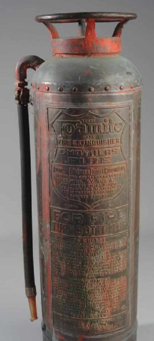 Vintage Foamite Brass or Copper Fire Extinguisher - 2