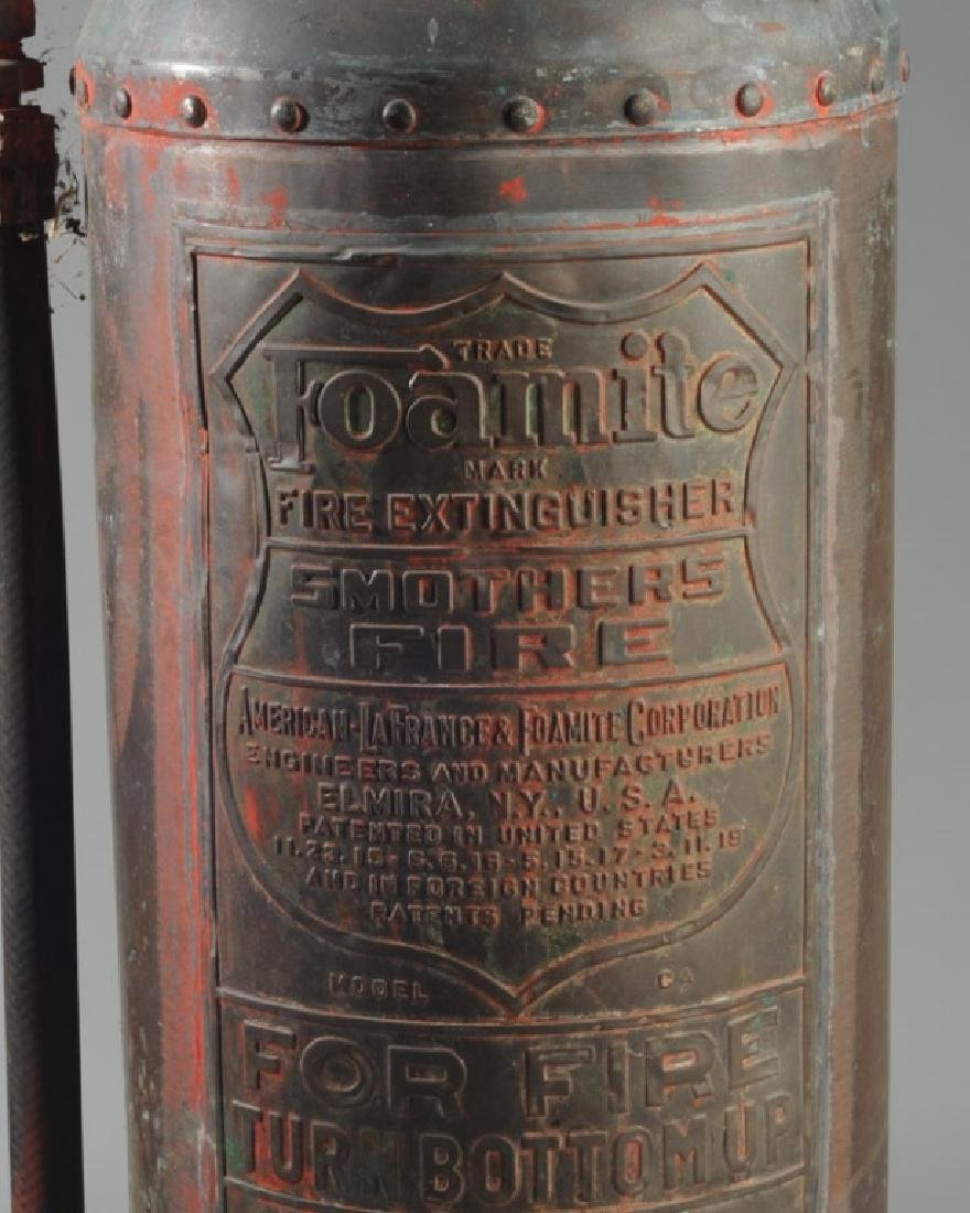 Vintage Foamite Brass or Copper Fire Extinguisher - 3