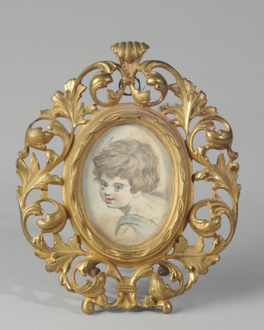 Watercolor on Paper Portrait Miniature