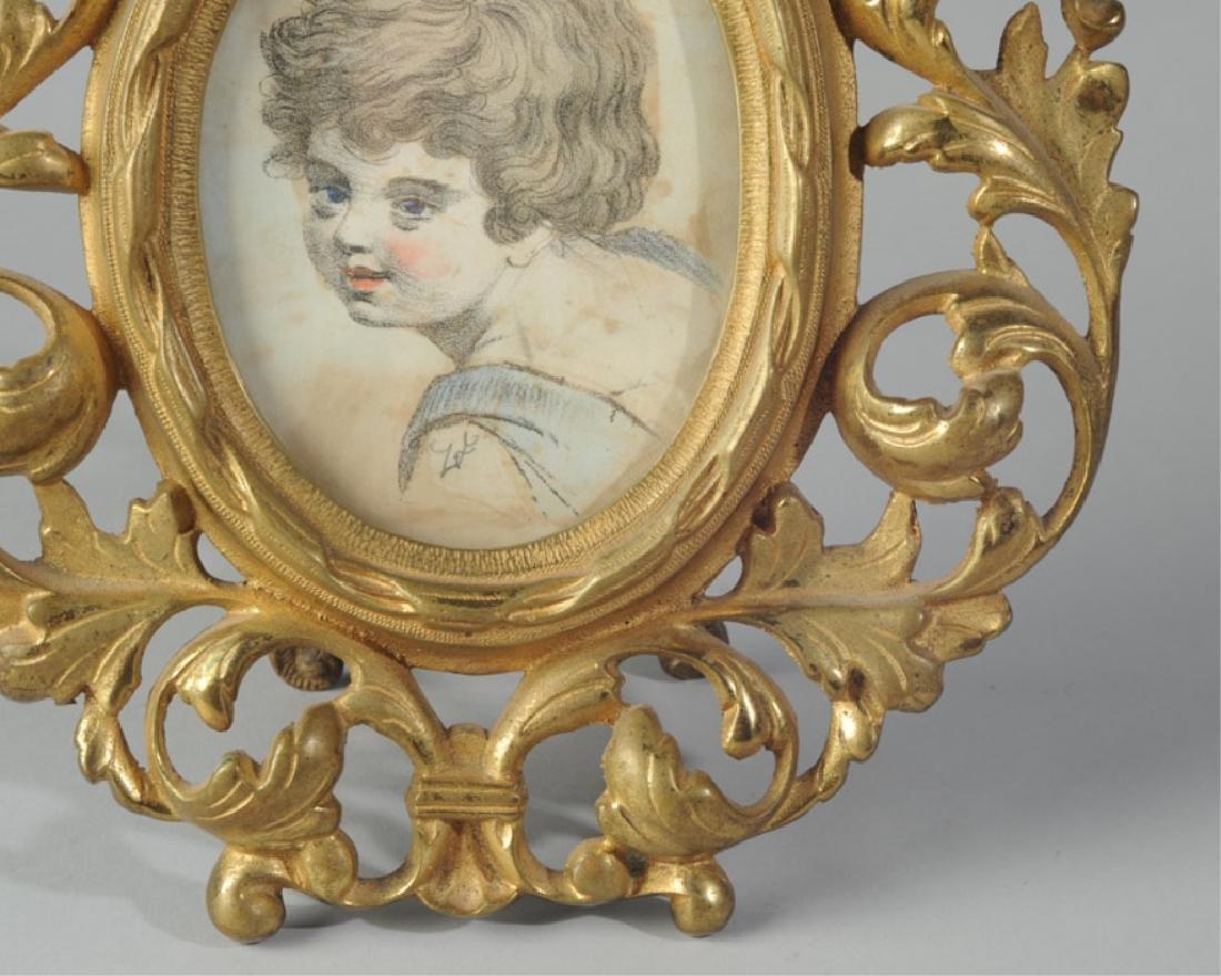 Watercolor on Paper Portrait Miniature - 2