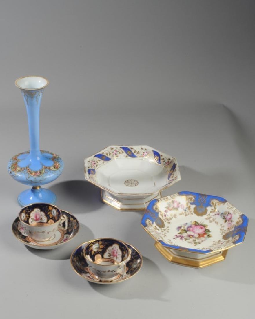 Old Paris Porcelain, Victorian Art Glass