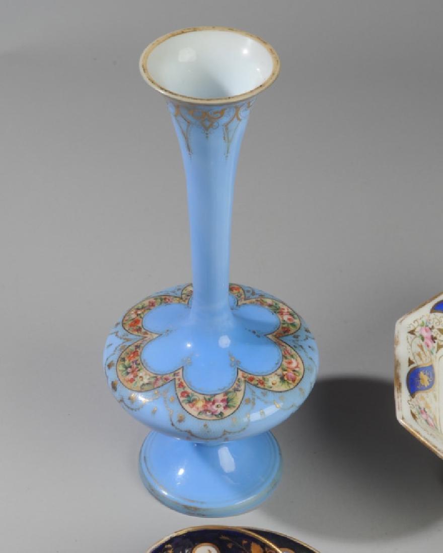 Old Paris Porcelain, Victorian Art Glass - 2