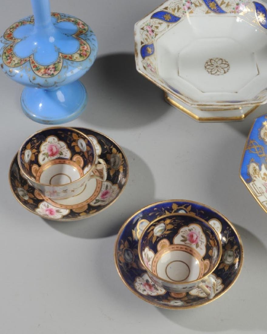 Old Paris Porcelain, Victorian Art Glass - 3