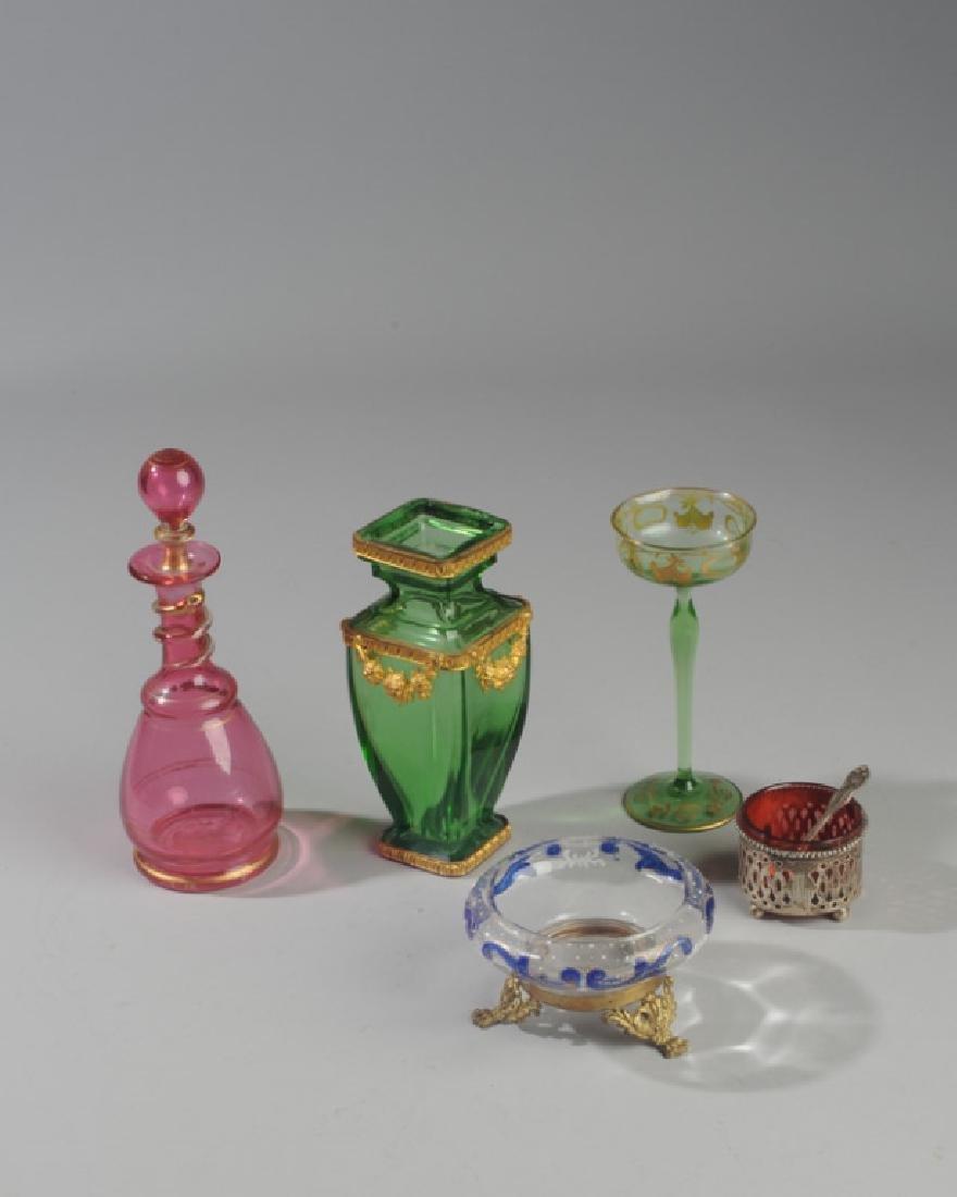19th C. Bohemian Art Glass Lot