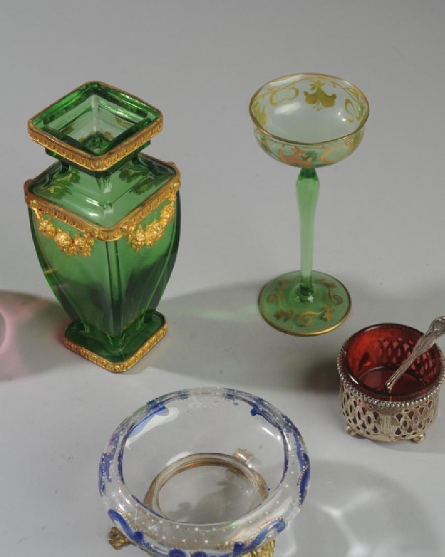 19th C. Bohemian Art Glass Lot - 2