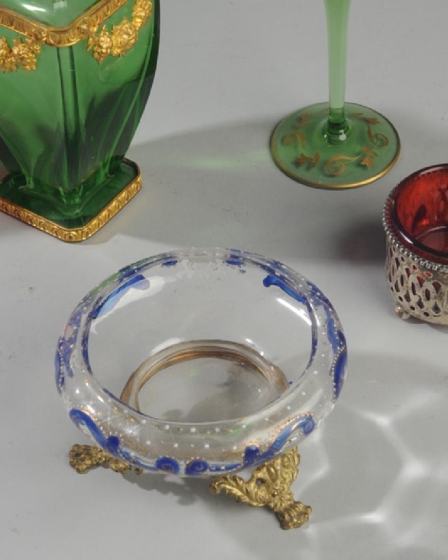19th C. Bohemian Art Glass Lot - 3