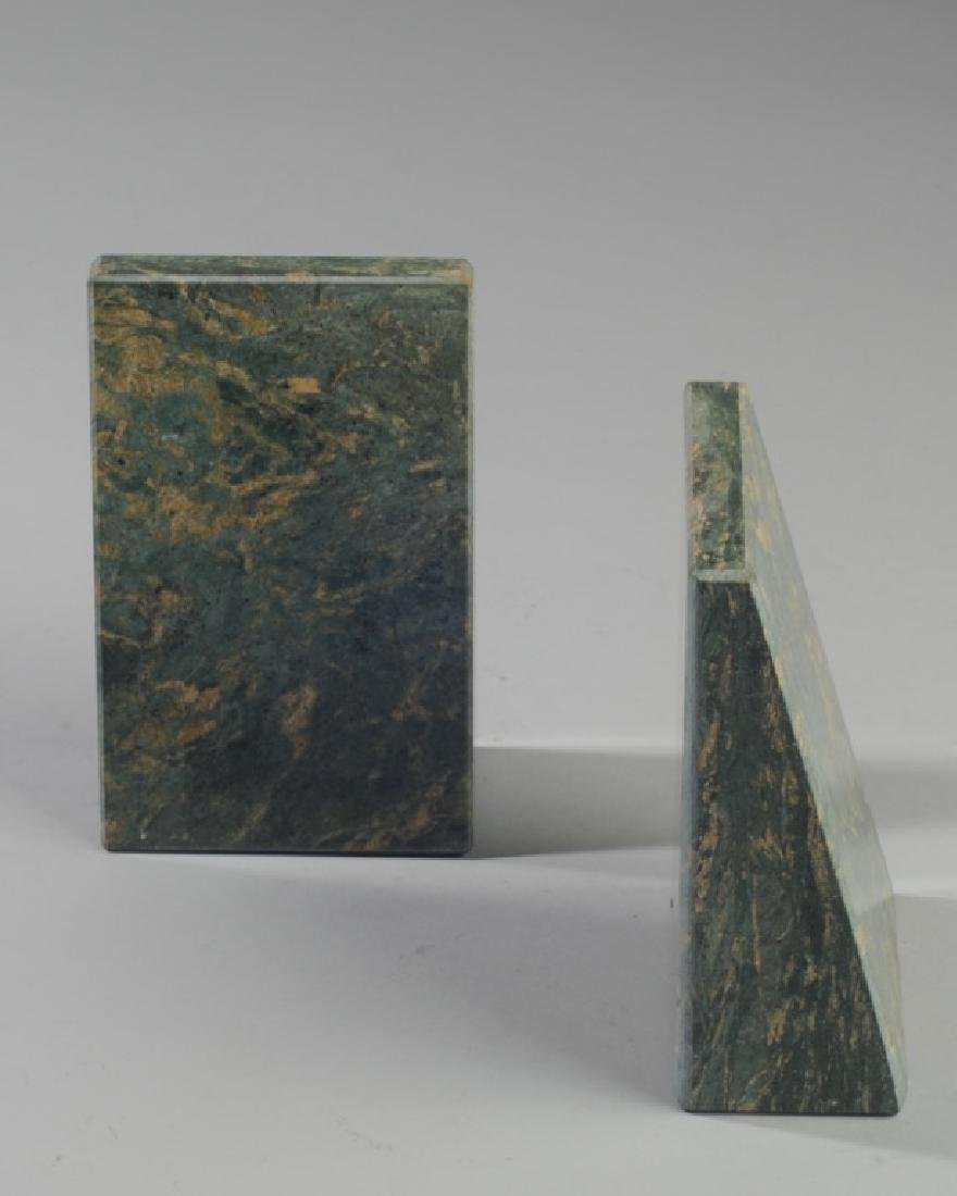 Pair of Contemporary Marble Bookends