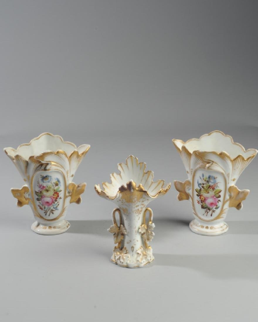 Three Old Paris Vases