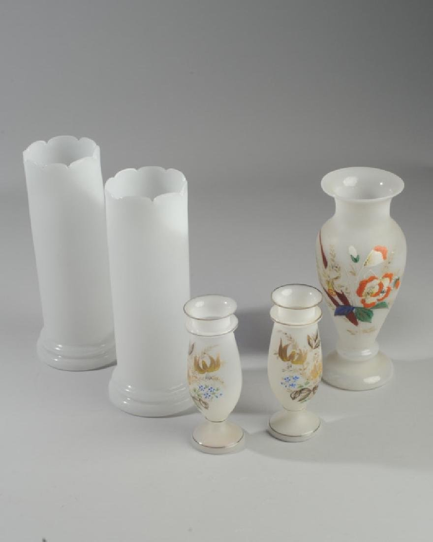 Two Pairs of Bristol Glass Vases