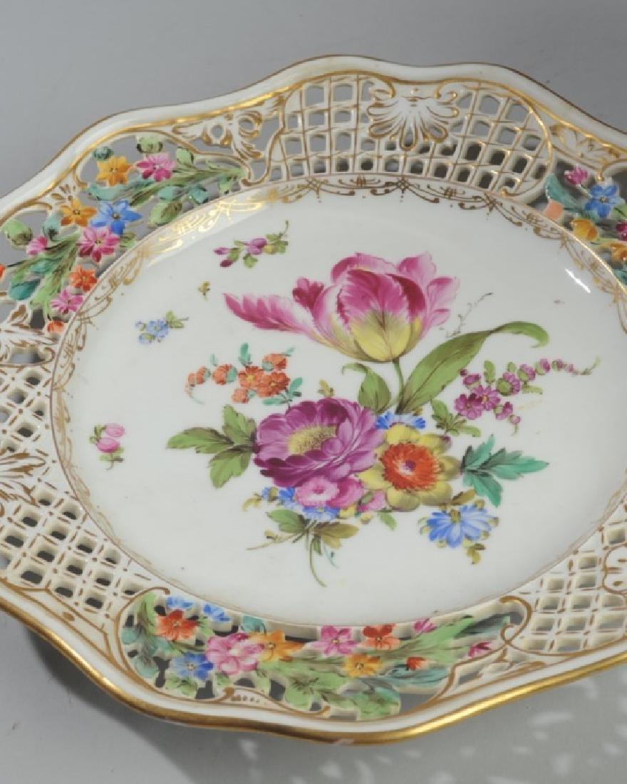 3 Pc. Carl Thieme Dresden Reticulated Porcelain - 5