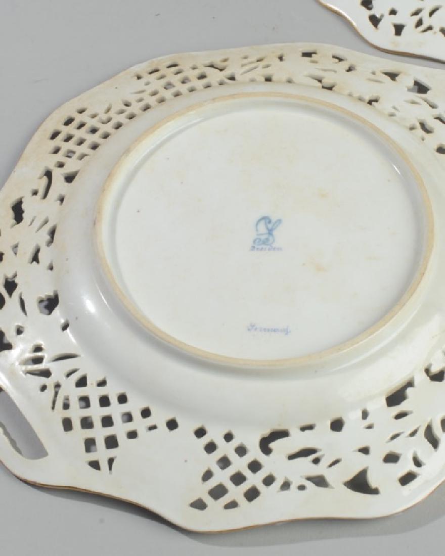 3 Pc. Carl Thieme Dresden Reticulated Porcelain - 6