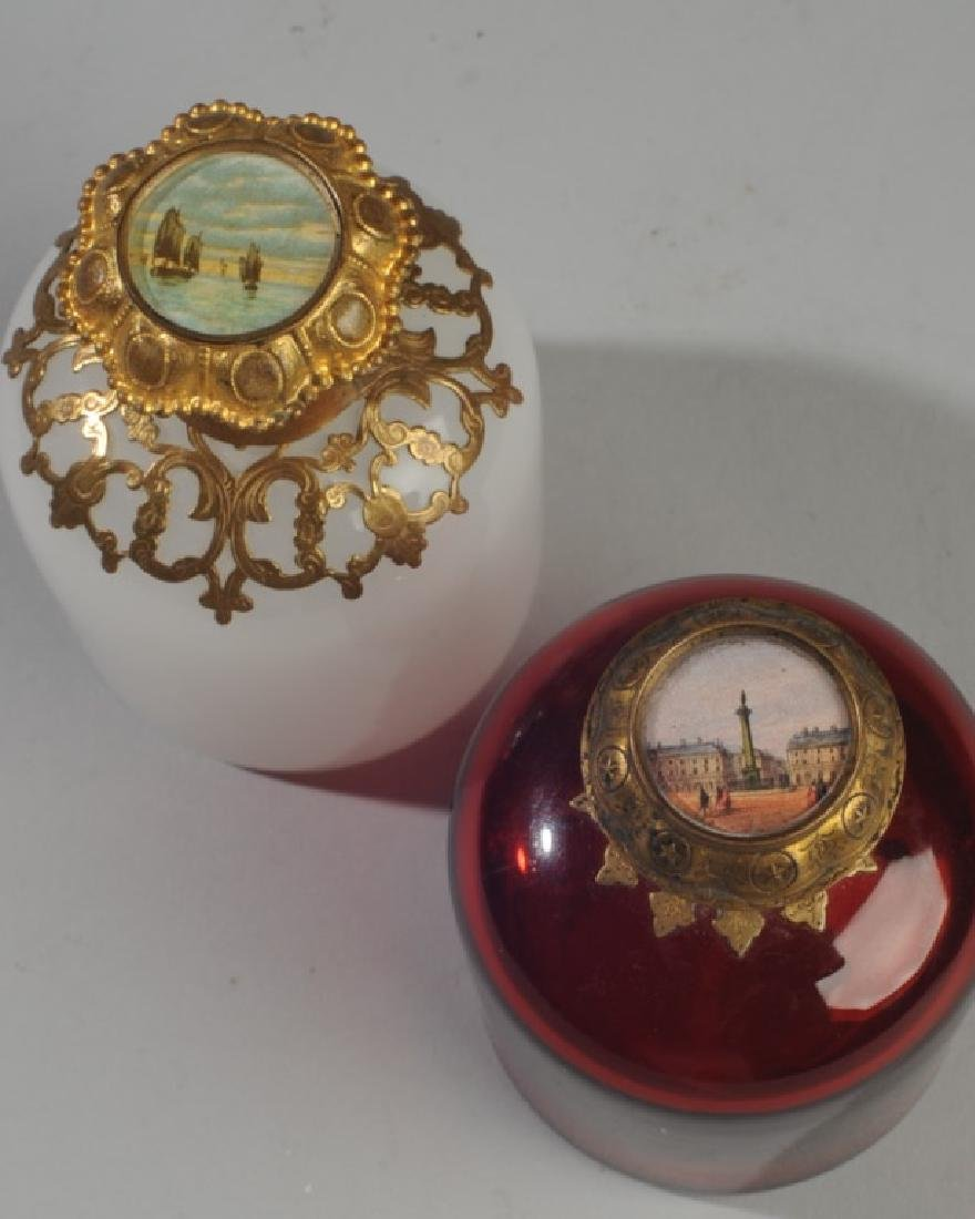Antique French Opaline Grand Tour Perfume Bottles - 2