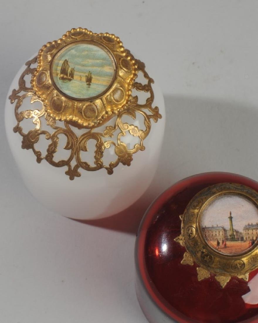 Antique French Opaline Grand Tour Perfume Bottles - 3