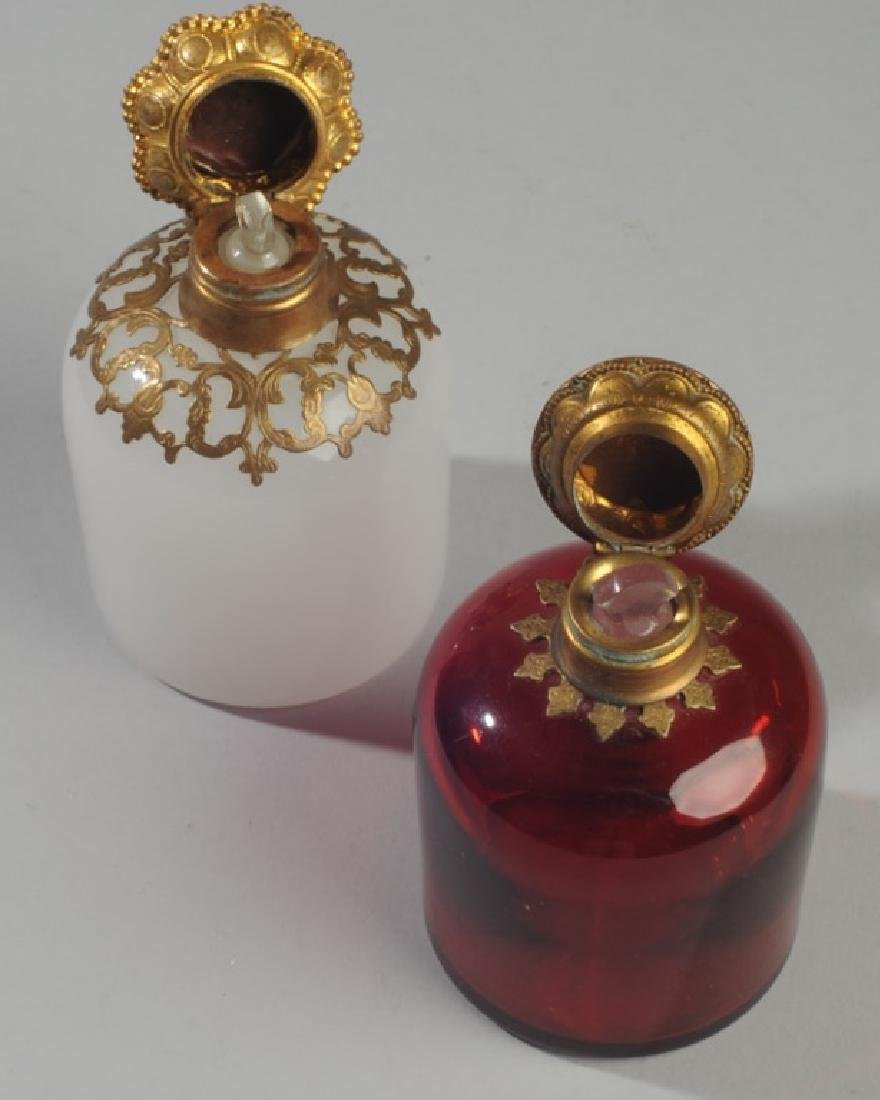 Antique French Opaline Grand Tour Perfume Bottles - 4