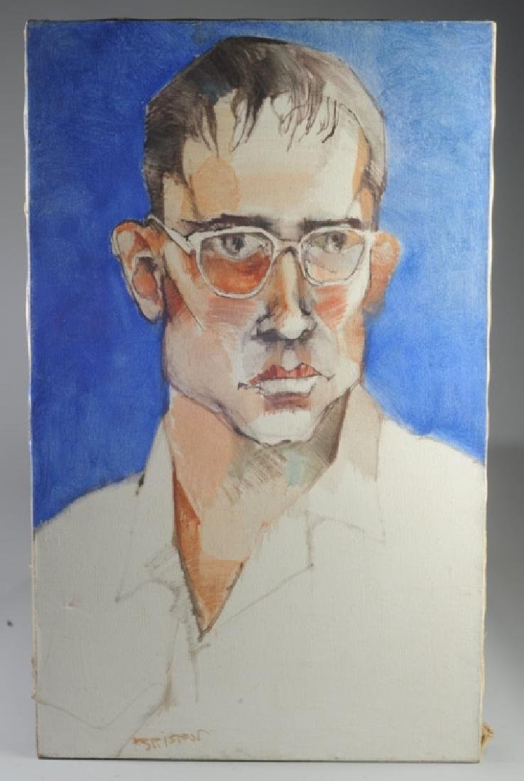 Large Contemporary Oil Portrait of a Young Man