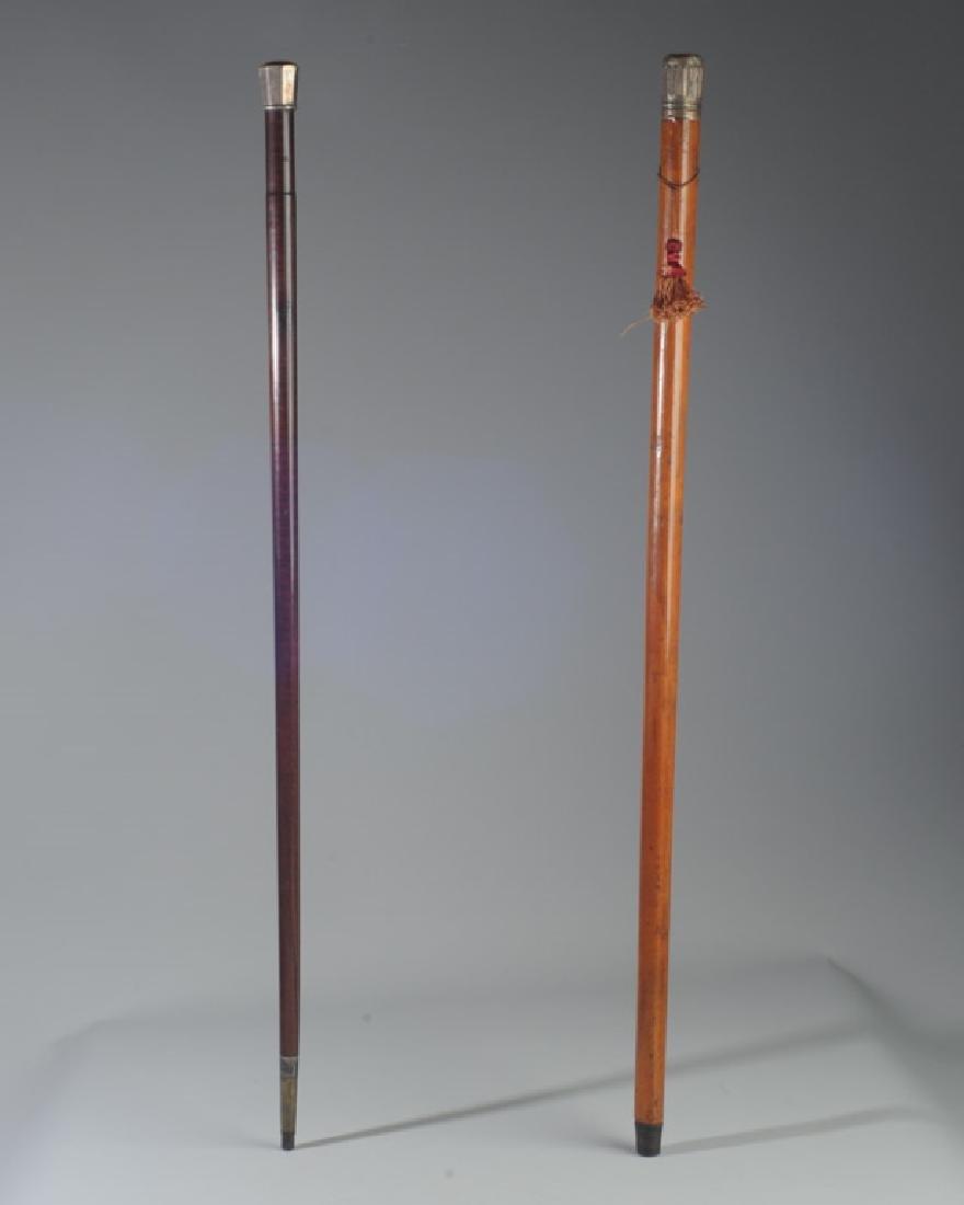 Two Antique Gentleman's Walking Sticks