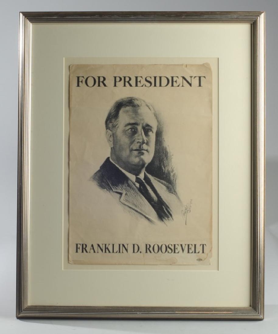 Franklin Roosevelt Campaign Poster & Portrait