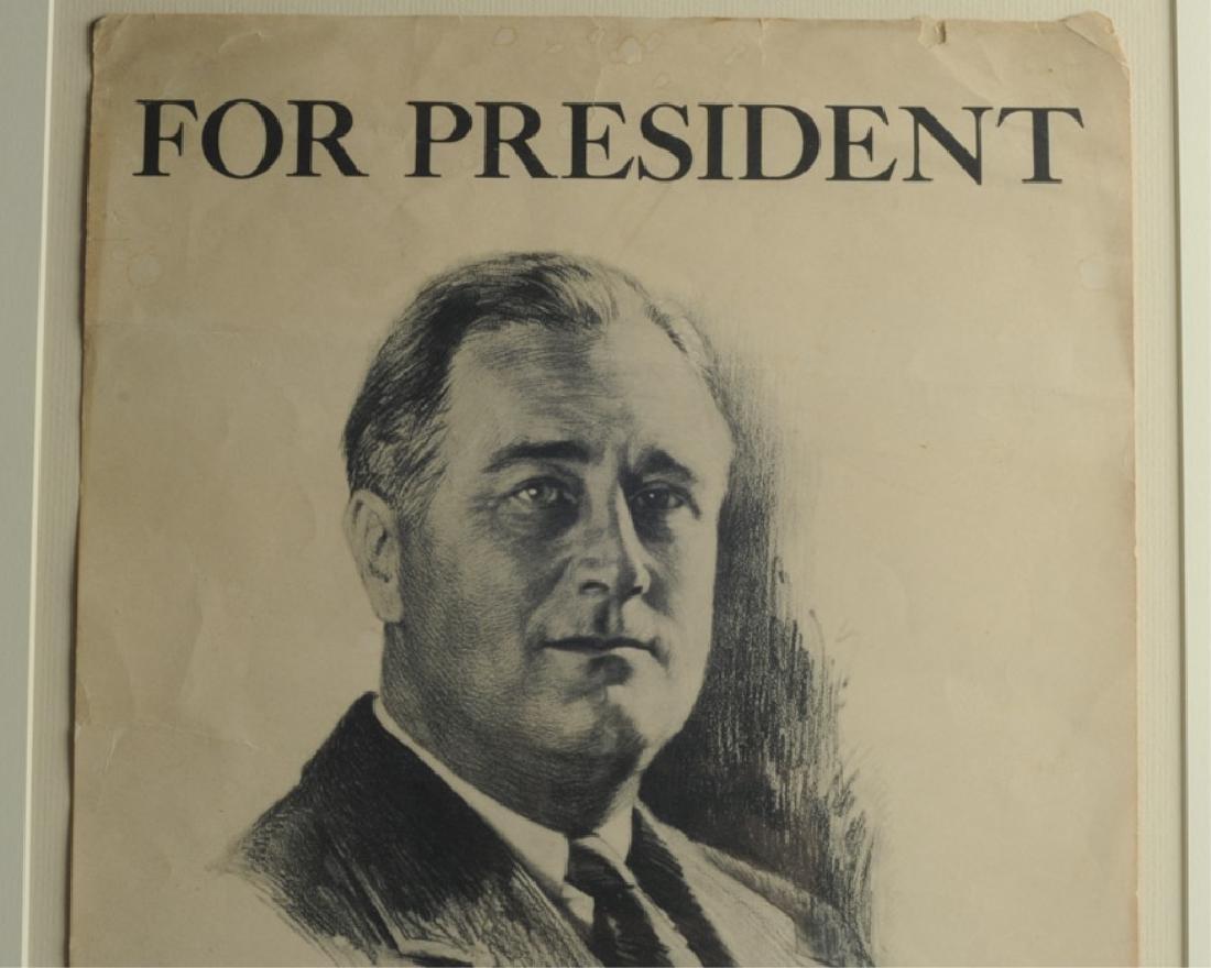 Franklin Roosevelt Campaign Poster & Portrait - 2