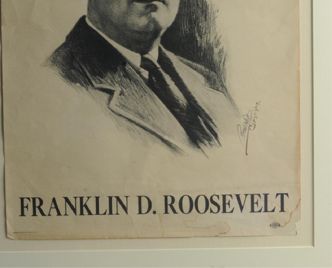 Franklin Roosevelt Campaign Poster & Portrait - 3