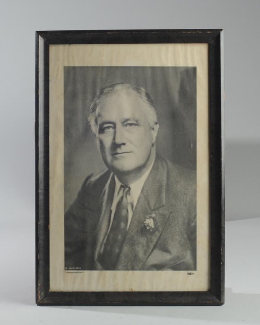 Franklin Roosevelt Campaign Poster & Portrait - 4